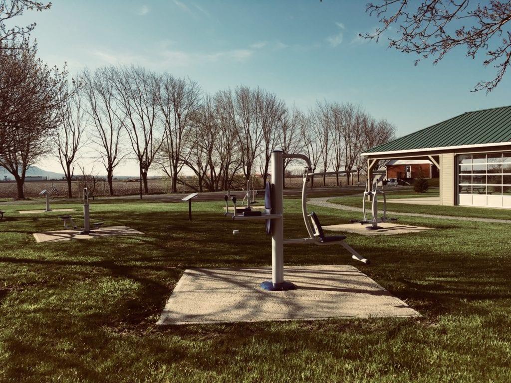 Stations d'exercices situées au parc des Loisirs